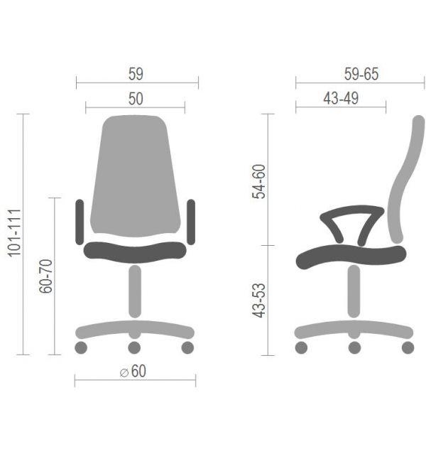 "Офисный стул ""PERFECT 10 GTP CPT PM60"""